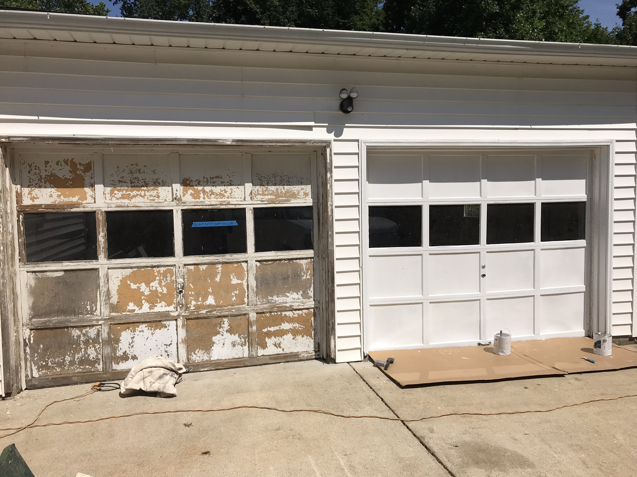 Exterior Garage Paint Job Lafayette IN Before